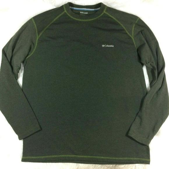Columbia Omni Wick Pullover Crew Neck Shirt Green